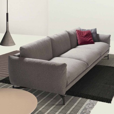 Comfortable sofa kom by my home with fabric upholstery for Design made in italy