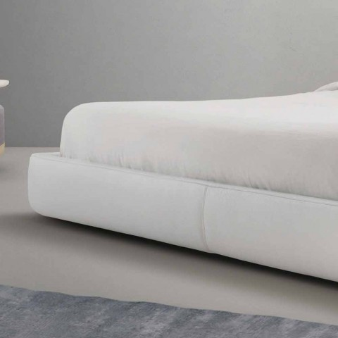 My Home Long Island padded leather double bed made in Italy