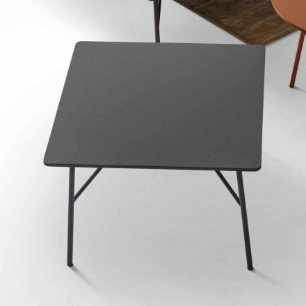 MDF coffee table with steel base Mek, produced in Italy by My Home