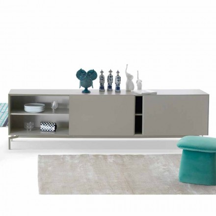 Long sideboard Mirage in MDF made in Italy by My Home, modern design