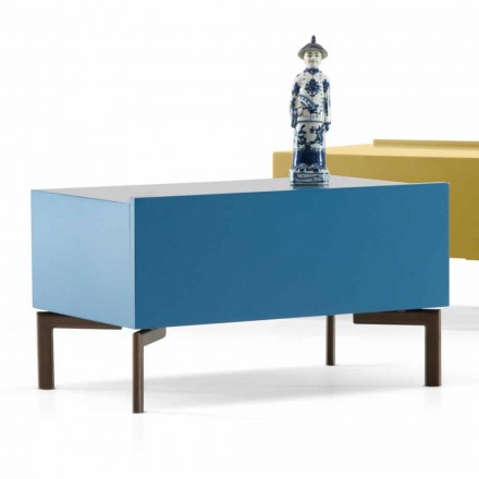 Sally MDF bedside table with steel legs by My Home, modern design