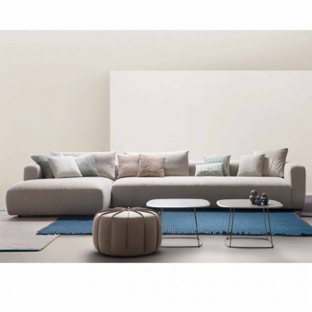 Modular sofa Softly, made in Italy by My Home, fabric upholstery