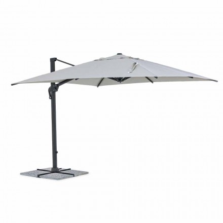 Outdoor Umbrella, 3x3 with Light Gray Cloth and Anthracite Structure - Dalton