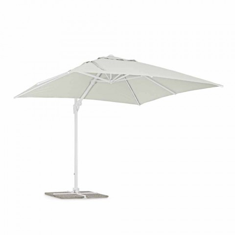 3x3 Outdoor Umbrella in White Aluminum and Polyester - Fasma