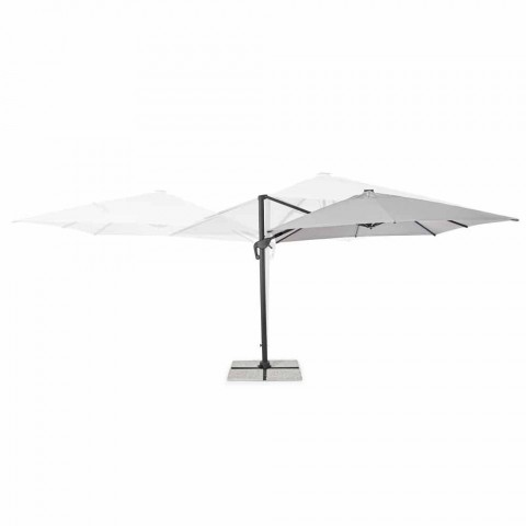 3x3 Outdoor Umbrella in Gray Polyester and Anthracite Color Aluminum - Coby