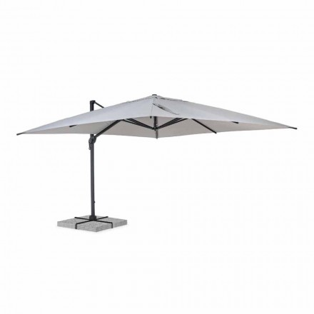 Outdoor Umbrella 4x4 in Light Gray Polyester and Aluminum - Daniel
