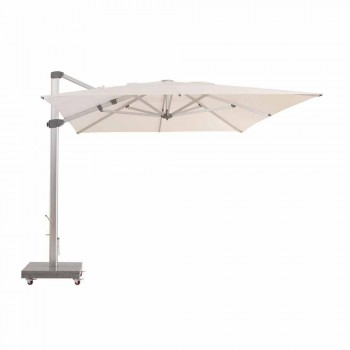 Water-repellent Outdoor Umbrella with 3x4 Granite Base - Zeus by Talenti