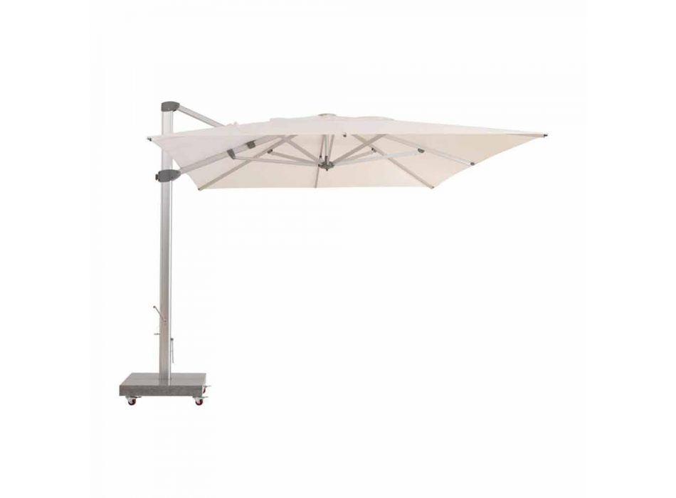 Water-repellent Outdoor Umbrella with 3x4 Granite Base - Zeus by Talenti