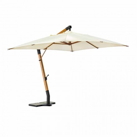 Outdoor Umbrella in Wood and Ecru 3x4 Polyester, Homemotion - Passmore