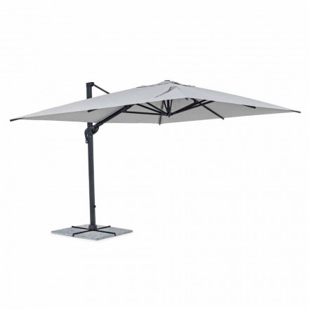 Garden Umbrella, 3x4 with Polyester Cloth in Light Gray - Dalton