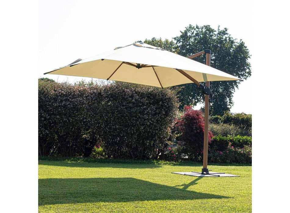 3x4m Garden Umbrella in Aluminum and Polyester, Homemotion - Marco