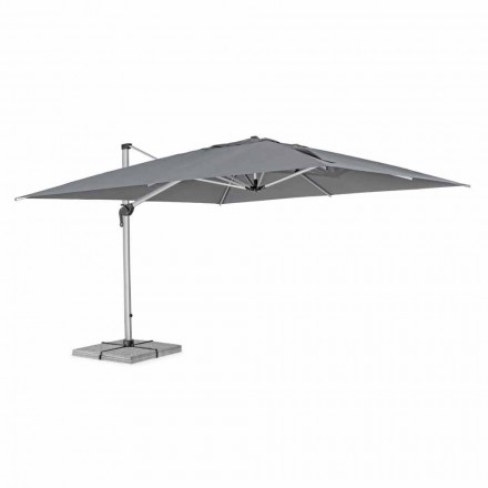 4x4 Garden Umbrella with Dark Gray Cloth and Anodized Structure - Daniel