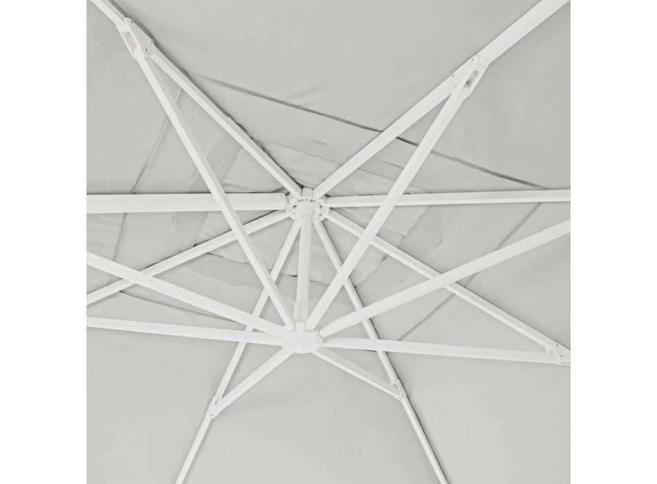 4x4 Garden Umbrella with Natural Color Polyester Fabric - Fasma