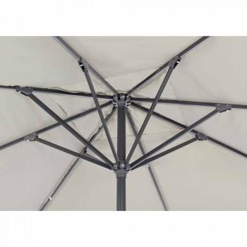 4x4 Garden Umbrella with Polyester Cloth and Steel Base - Nastio