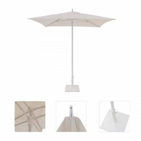 Modern Garden Umbrella in Fabric and Steel 2x2 m - Apollo by Talenti