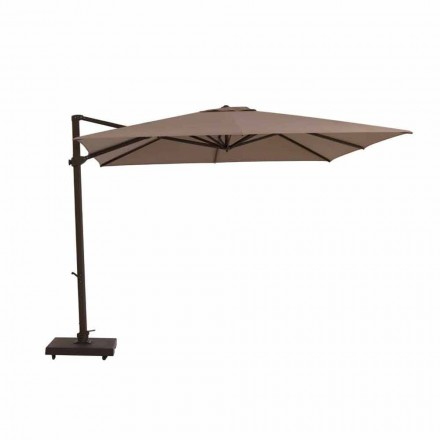 Garden Umbrella, 3x3 m in Fabric and Steel - Marte by Talenti