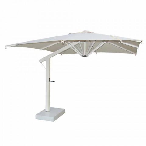 Aluminum Umbrella with White or Anthracite Arm 350x350 cm - Lapillo