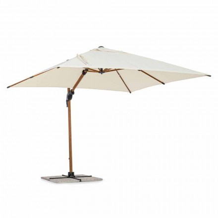 Outdoor Umbrella, 3x3 in Aluminum with Beige Polyester Cover - Leano