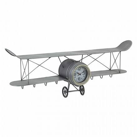 Airplane Shaped Wall Clock in Steel and Glass Homemotion - Plano