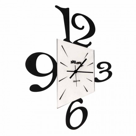 Design Wall Clock in Black Iron or Aluminum Made in Italy - Prospi