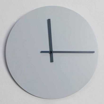 Round Wall Clock of Modern Design Gray and Blue Made in Italy - Umbriel