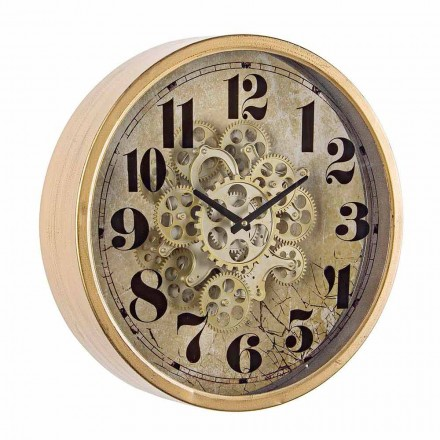 Round Wall Clock Diameter 46.5 cm in Steel and Glass Homemotion - Rando
