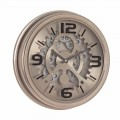 Classic Style Wall Clock in Steel and Mdf Homemotion - Crude