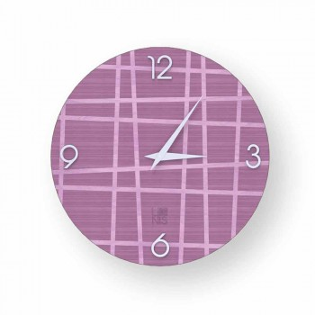 Wall clock made of Isso wood, made in Italy