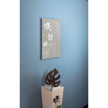 Brown Design Wall Clock in Wood and Rectangular Plexiglass - Silene
