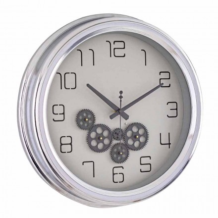 Vintage Design Wall Clock with Homemotion Steel Structure - Gimbo