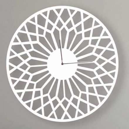 Large and Modern Design Wall Clock in Round Colored Wood - Dandalo