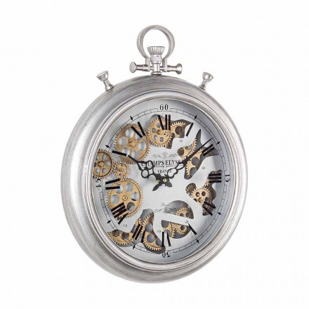 Wall Clock in Steel and Glass Design Vintage Homemotion - Gringo