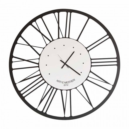Design Iron Wall Clock Made in Italy - Gioele