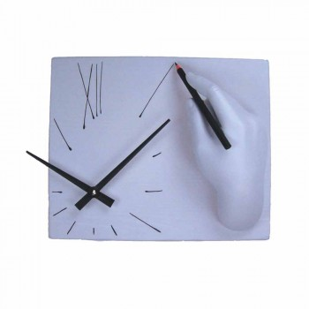 Artisan Wall Clock in Decorated Resin Made in Italy - Vineyard