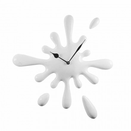 Handmade Modern Design Wall Clock in Resin Made in Italy - Lemon