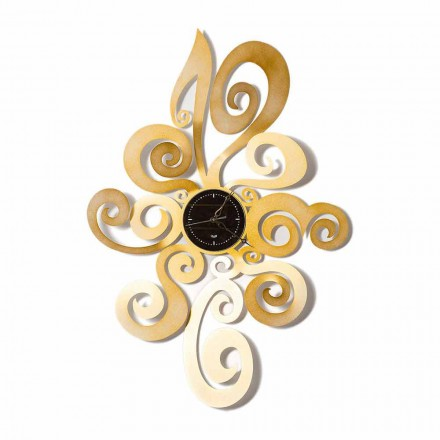 Modern Design Iron Wall Clock Made in Italy - Noel
