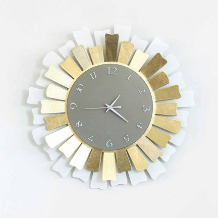 Modern Circular Two-tone Iron Wall Clock Made in Italy - Lussuria