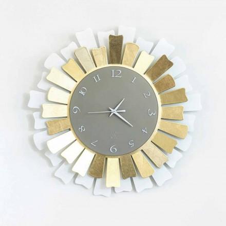 Modern Circular Two-tone Iron Wall Clock Made in Italy - Lussuria