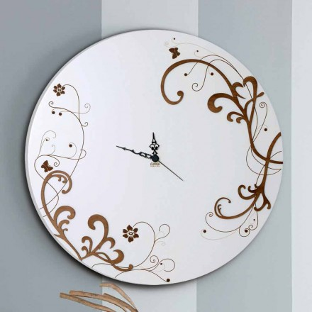 Modern and Round Wooden Wall Clock with Seasonal Design Decors