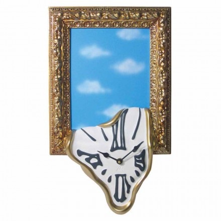 Wall Clock with Photo Frame in Resin Made in Italy - Bigno