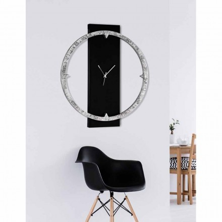 Wall clock Agostino, made in Italy, two colour combinations available