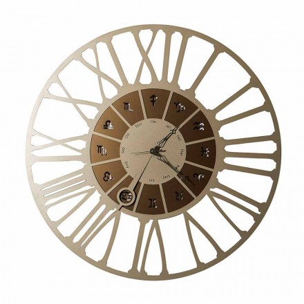 Made in Italy Two-tone Iron Design Wall Clock - Capricorn