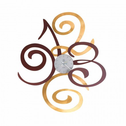 Design Wall Clock in Colored Iron Made in Italy - Fiordaliso