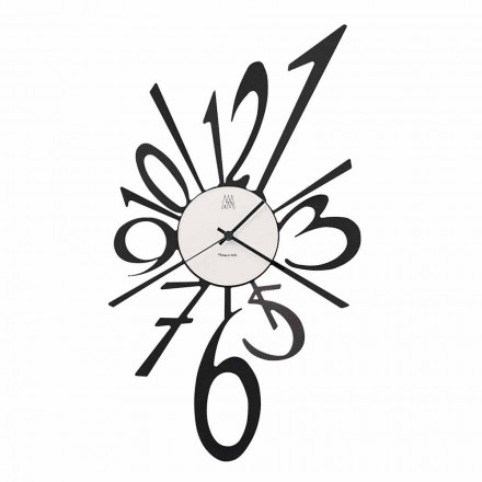 Design Wall Clock in Black Iron or Aluminum Made in Italy - Oceano