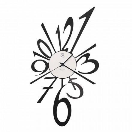 Design Wall Clock in Black Iron or Aluminum Made in Italy - Oceano