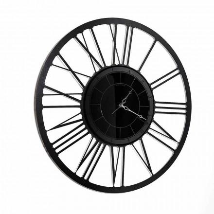 Modern Design Iron Mirror Wall Clock Made in Italy - Gioele