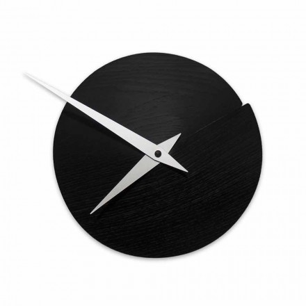 Round Wall Clock Diameter 19.5 cm in Wood Made in Italy – Cratere