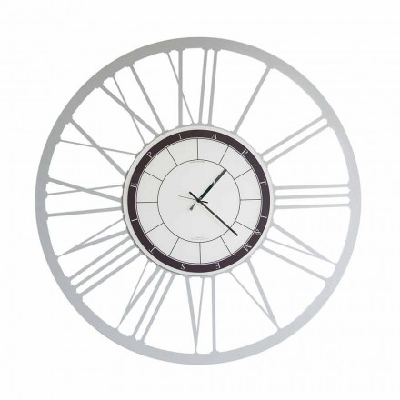 Modern Large Size Iron Wall Clock Made in Italy - Einar