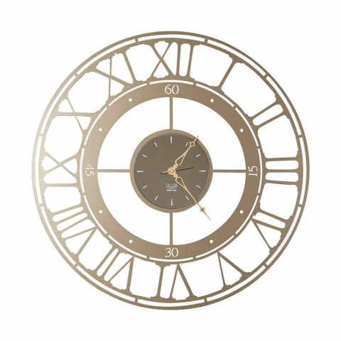 Classic Style Wall Clock in Colored Iron Made in Italy - Color
