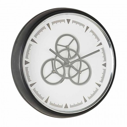 Wall Clock Diameter 50 cm in Steel and Glass Homemotion - Severio